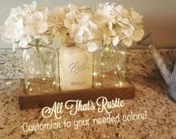 rustic wedding centerpieces lighted centerpiece etsy