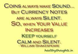 thought for the day william shakespeare quotes coins always make