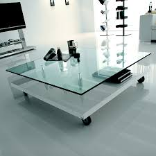 Glass Coffee Table With Wheels Glass Coffee Table With Wheels And Square Shape Ideas Also