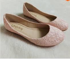 light pink ballet flats eu 35 43 big plus size flat wedding party shoe lace round toes