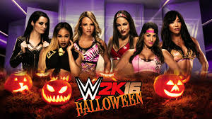 wwe 2k16 6 diva halloween special tag team match youtube