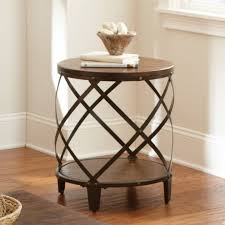 small metal end table storage end tables steve silver winston round distressed tobacco