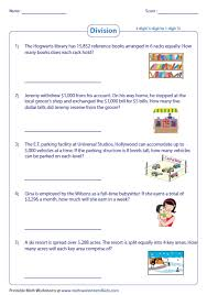 division word problems worksheets