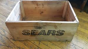 sears home decor vintage sears wooden crate box home decor tool box endless