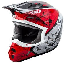 fly racing motocross gear kinetic crux red black white helmet fly racing motocross mtb