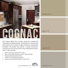 color palette to go with our cognac shaker kitchen cabinet line