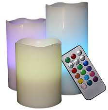 3 candle electric light sale led flameless electric candles 3 pcs multi color changing