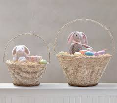 easter baskets silver rope collapsible handle easter baskets pottery barn kids