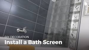 how to install a shower screen diy projects youtube