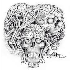 see no evil hear no evil speak no evil skull design 6