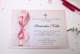 effective religious invitation card and cute pink ribbon design