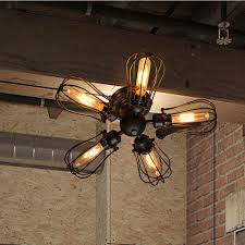industrial flush mount light vintage edison barn metal semi flush mount light max 300w with 5