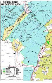 Porcupine Mountains State Park Map by Adirondack Directory Of Wilderness Regions Dix Mountain Wilderness