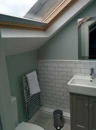 Bathroom In Loft Conversion Small Loft Conversion Bathroom Shower Room In Se London Wall Paint
