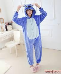 stitch onesies pajamas unisex flannel kigurumi onesies winter