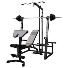 bench press u0026 squat rack lat pulldown combination 7ft barbell
