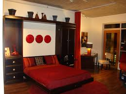 interior murphy bed with desk attached library wall bed how to