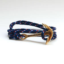 rope bracelet with anchor images You me the sea nautical rope bracelet gold anchor navy france jpg