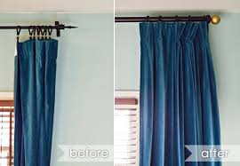 Hanging Curtains With Rings Using Curtain A Different Way What A Difference