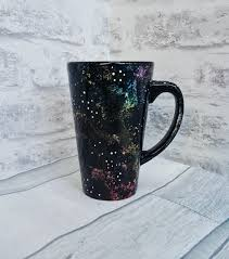 Weird Mugs by Astronomy Latte Mug Galaxy Cup Large Space Mugs Hand Painted