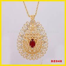 gold big pendant necklace images Fashion zircon jewelry pendant double big pendant fashion in jpg