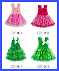 european stylish green shamrock party dresses children frock