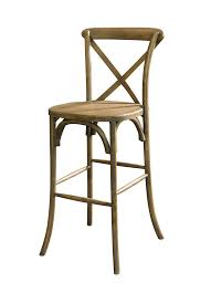 Wooden Bar Stool With Back Lucca Cross X Back Bar Stool Commercial Quality Wholesale