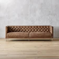 Brown Leather Sofa Bed Leather Sofas Cb2