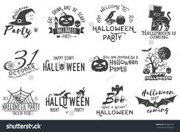 set halloween party concept halloween party stock vector 665636776