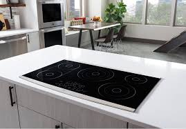 30 Downdraft Electric Cooktop Lg Lsce305st 30 Inch Electric Cooktop With Dual Elements Warm