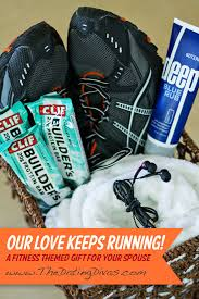 fitness gift basket gift for him our keeps running