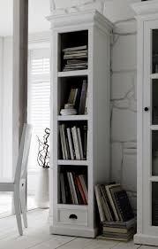 Narrow Bookcase by White Painted Tall And Narrow Bookcase Belgravia Painted