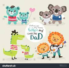 fathers day greeting card vector illustration stock vector
