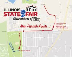 Illinois Road Conditions Map by State Fair Parade Run U2014 Springfield Road Runners Club
