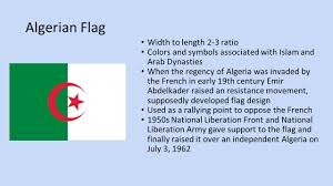 Algerian Flag Algerian Government By Kate Gonzalez Gillian Hand And Jessica