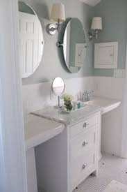 pedestal sink bathroom design ideas how to get two sinks and storage in a small bathroom for the
