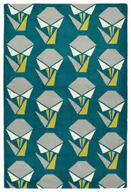 Teal Living Room Rug by Varick Gallery Ronnie Hand Tufted Teal Area Rug Wayfair