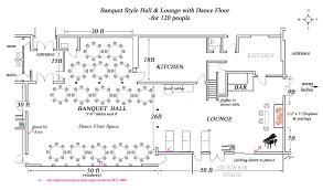 stunning banquet kitchen layout and floor plan draft featuring