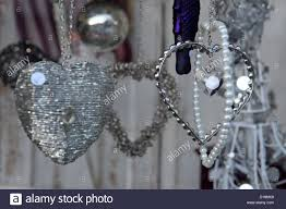 Window Decorations For Christmas Uk by Old Fashioned Victorian Style Silver Christmas Decorations Hanging