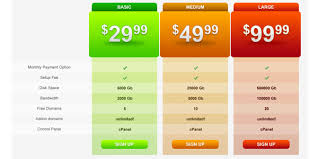 price plan design 30 cool pricing tables psd