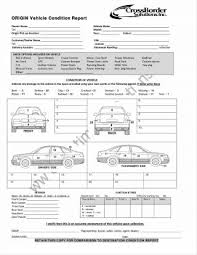 car report template exles car handover checklist car reviews 2018