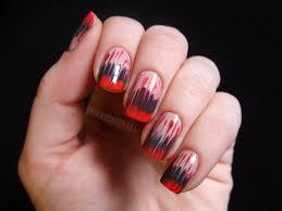 purple negative space nail art for geometric naillinkup magically