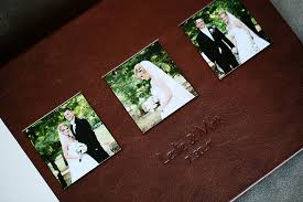 leather wedding photo album leather album cover 10x15 distressed brown leather with ivory