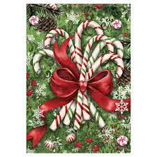 Yard Flags Wholesale Christmas Garden Flag Christmas Candy Canes