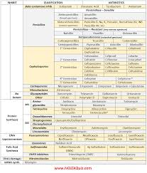 antibiotics cheat sheet pharmacology nclex and pharmacology nursing