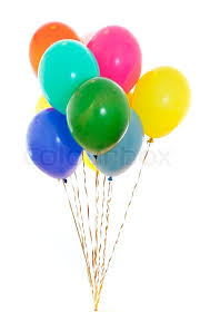 bunch of balloons colourful balloons bunch filled with helium isolated on white