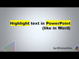 design von powerpoint in word how to highlight text in powerpoint like in word when you make