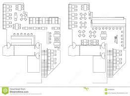 stock floor plans standard cafe furniture symbols on floor plans stock cafe floor