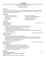 Industrial Maintenance Resume Examples by Best Transportation Automotive Technician Resume Example Livecareer