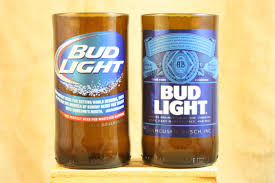 is bud light made with rice drinking glasses upcycled from bud light beer bottles